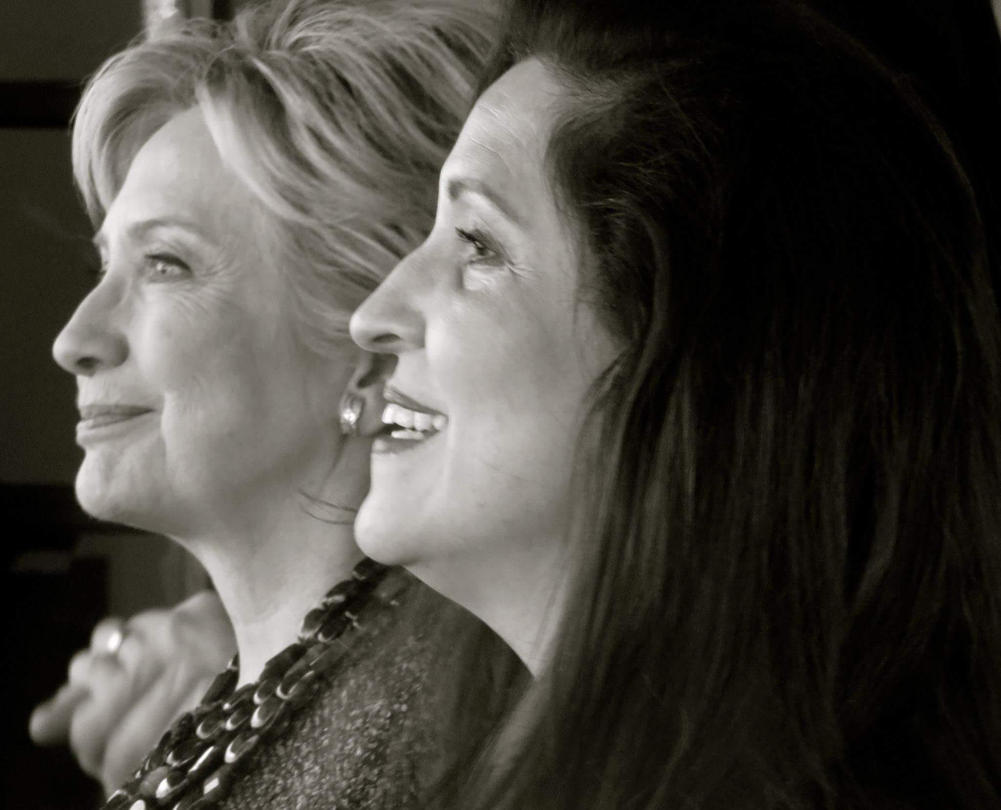 Cynthia Telles and Hillary Clinton